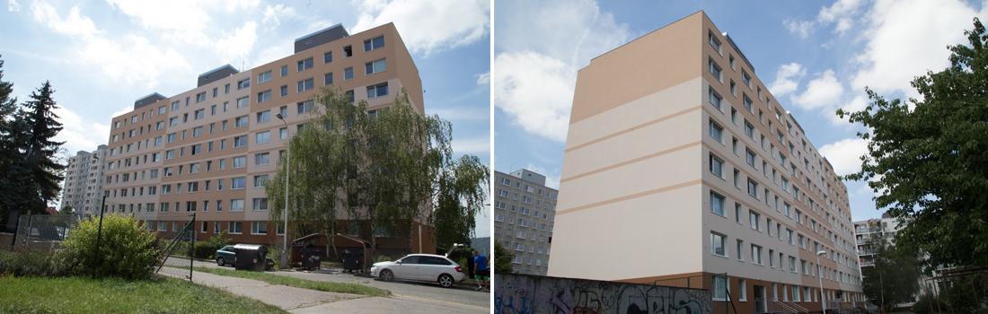Revitalizace bytového domu Botevova 3107-3109, Praha