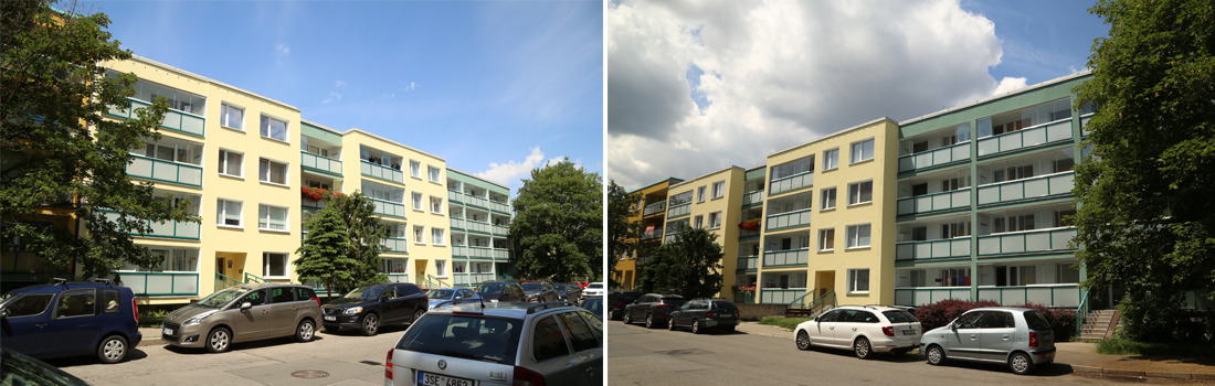 Revitalizace bytového domu Hrdličkova, Kloboukova 2203-2206, Praha
